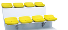 Стационарное пластмассовое сиденье СН04, фото 3