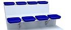 Стационарное пластмассовое сиденье СН04, фото 4