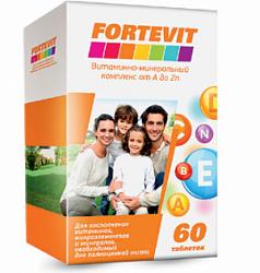 Fortevit Витаминно-минерпльный комплекс от А до Цинка 60 таб