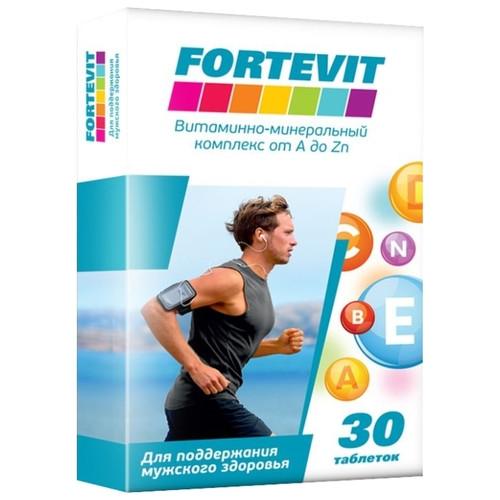Fortevit для мужчин. Витаминно-минеральный комплекс от А до Цинка 30 таб