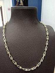Золотая цепь 55 см / жёлтое золото