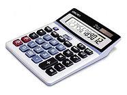 """Калькулятор настольный DELI """"1654"""" 12 разрядный серый"""