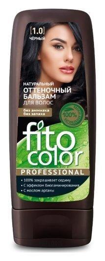 Fito Color Professional Натуральный оттеночный бальзам для волос,Тон 1.0 Черный