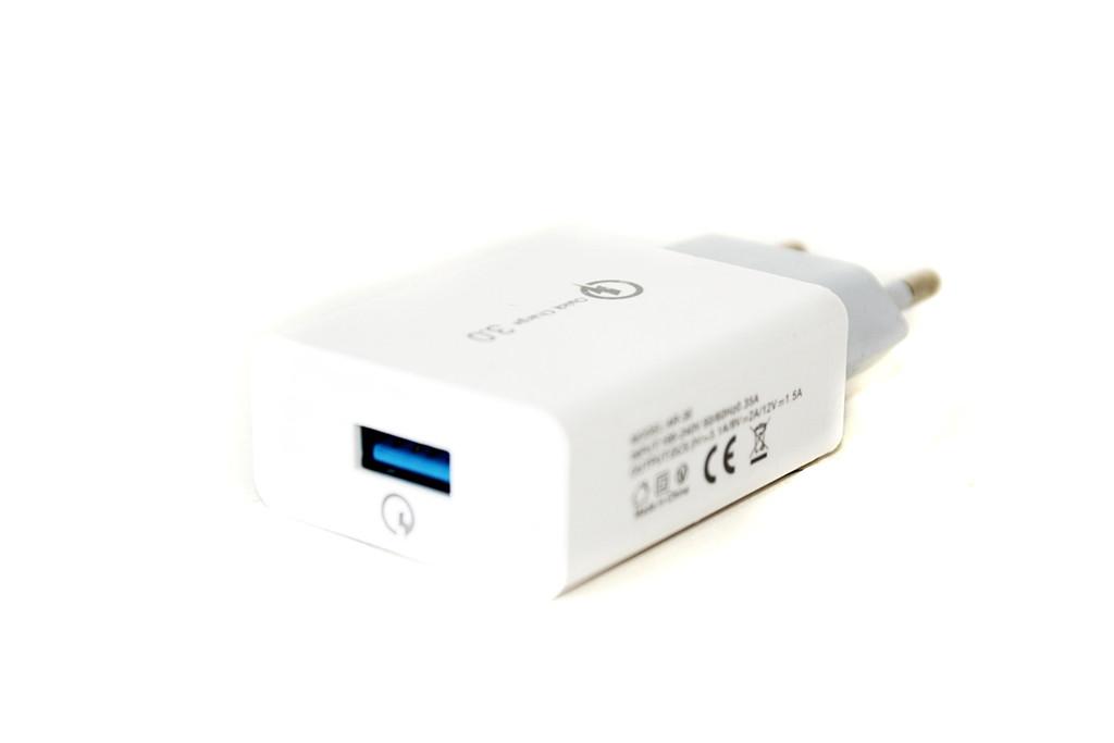 Сетевой USB-адаптер Samsung AR-30, 1x USB, Qualcomm QC 3.0, для мощных устройств