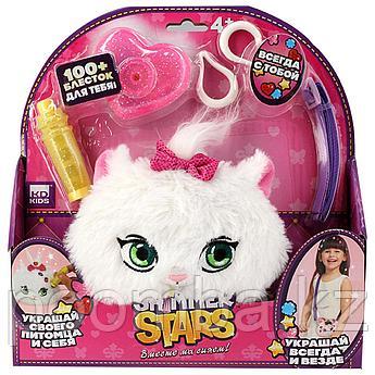 Набор с кошельком 12 см  SHIMMER STARS Плюшевый котенок