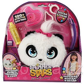 Набор с кошельком 12 см SHIMMER STARS Плюшевая панда