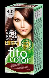 """Стойкая крем-краска для волос серии """"Fitocolor"""" 4.0 цвет каштан"""