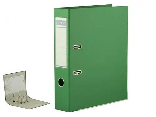 Папка-регистратор KUVERT А4 (ширина корешка 72 мм, зеленая)