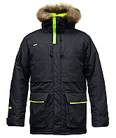 Куртка мужская утепленная, мех, 52 размер, цвет черный