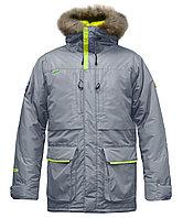 Куртка мужская утепленная, мех, 56 размер, цвет светло-серый