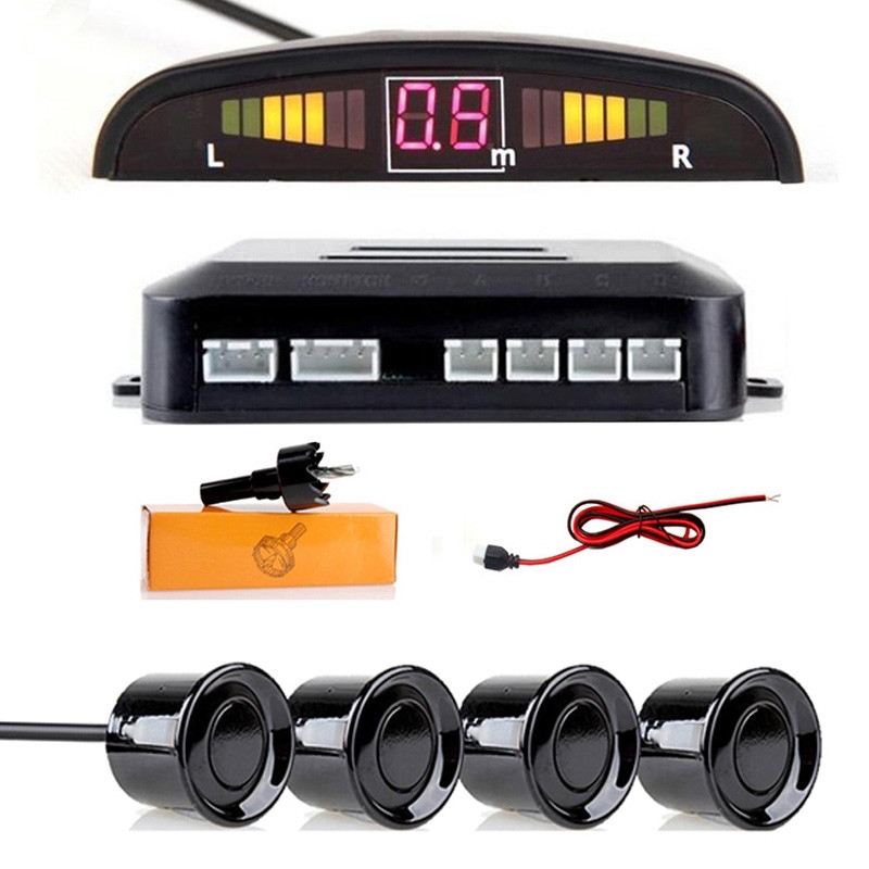 Парктроник со светодиодной индикацией с 4 датчиками парковочный радар для