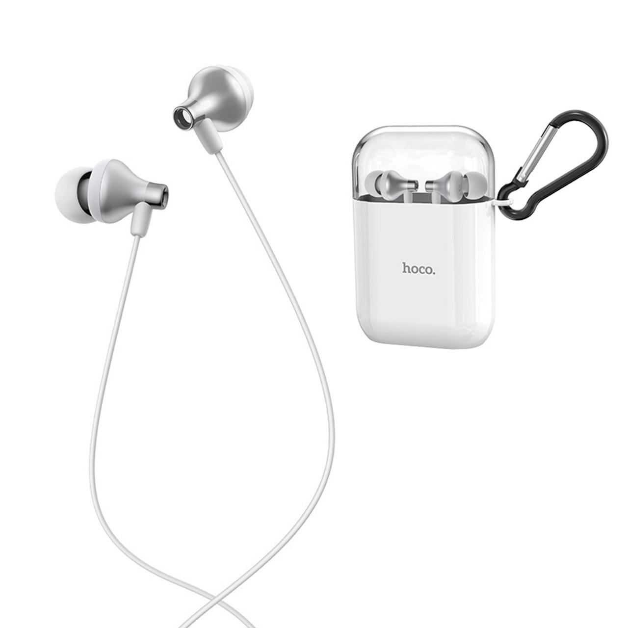 Гарнитура Hoco M74 Classic universal Earphones, Black/White