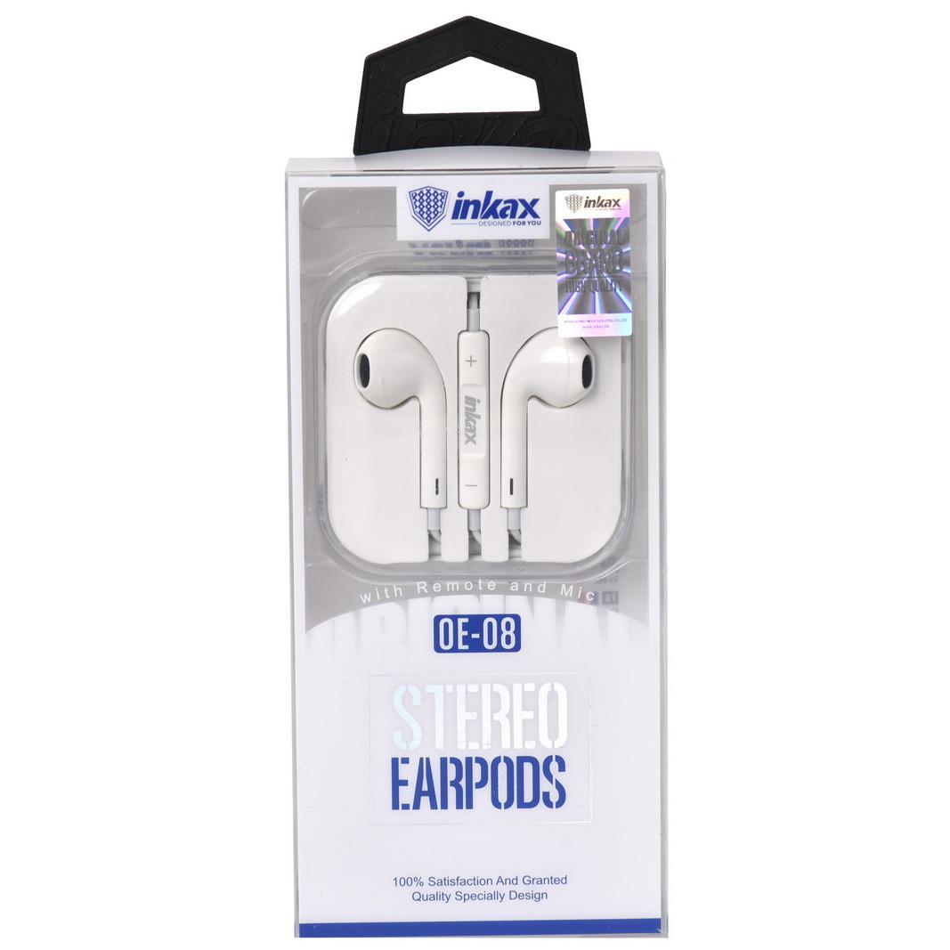 Гарнитура Inkax OE-08 Stereo Earpods White