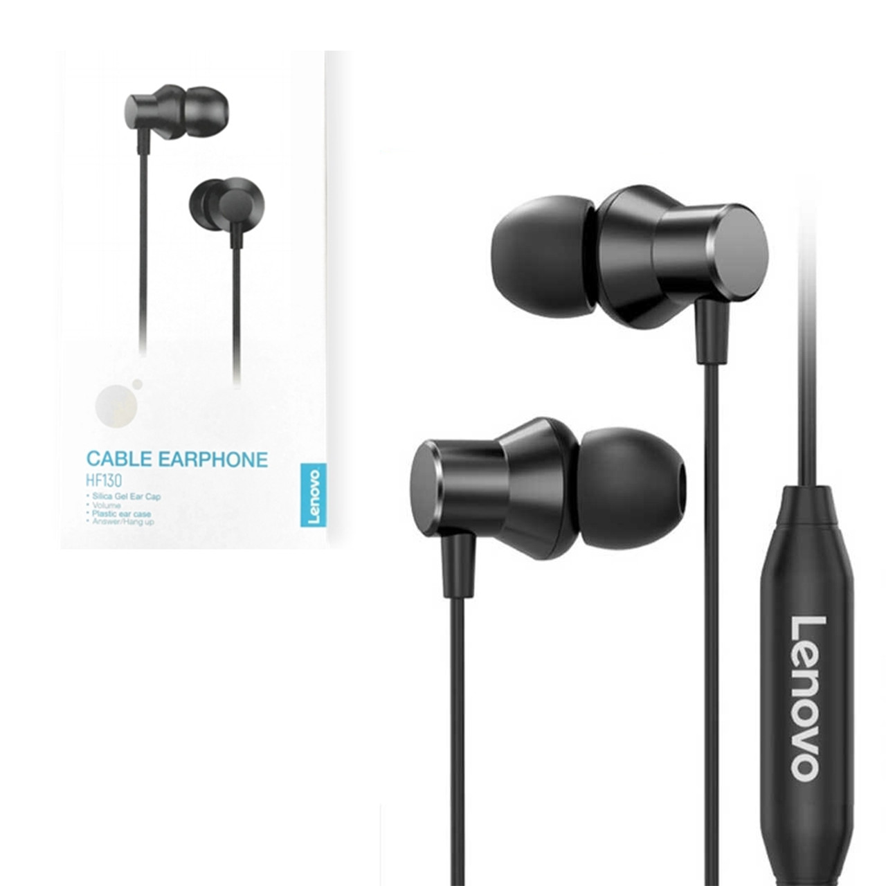 Гарнитура Lenovo HF130 Metal Earphone, Black