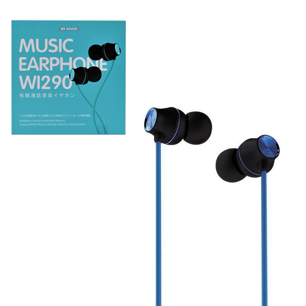 Гарнитура WK Design Wi290 Music Earphone , Blue