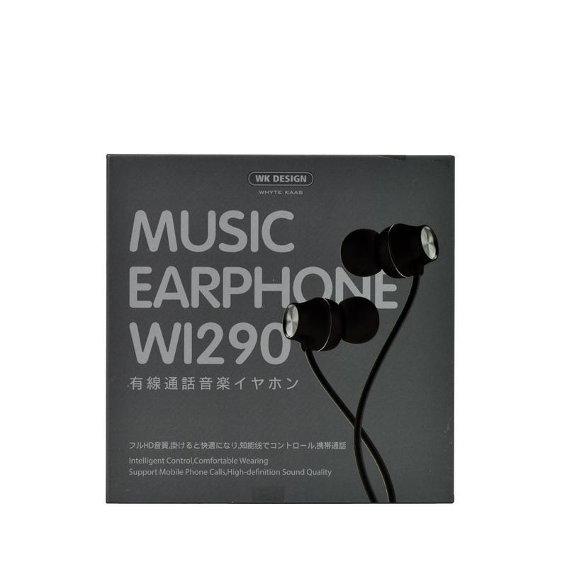 Гарнитура WK Desing Wi290 Music Earphone , Black