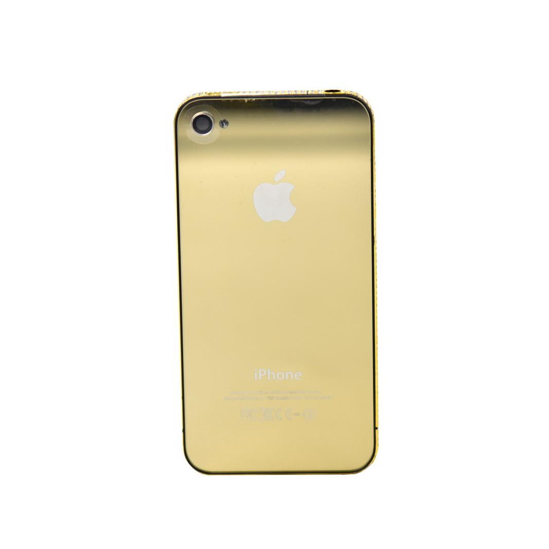 Дисплей Apple iPhone 4G + средняя часть Swarovski + задняя крышка Gold