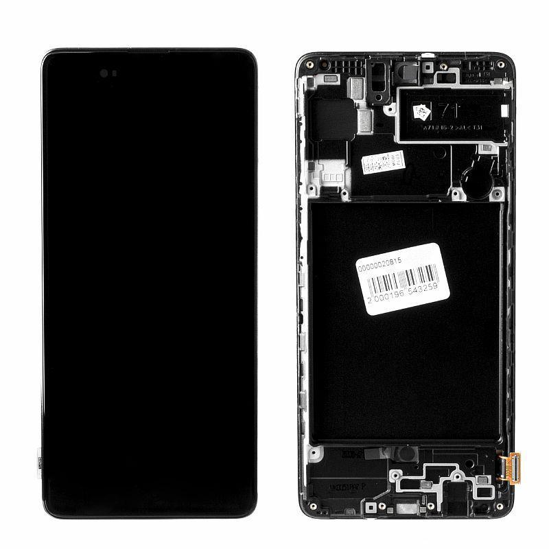 Дисплей Samsung Galaxy A71 A715 в сборе Service Pack, Black