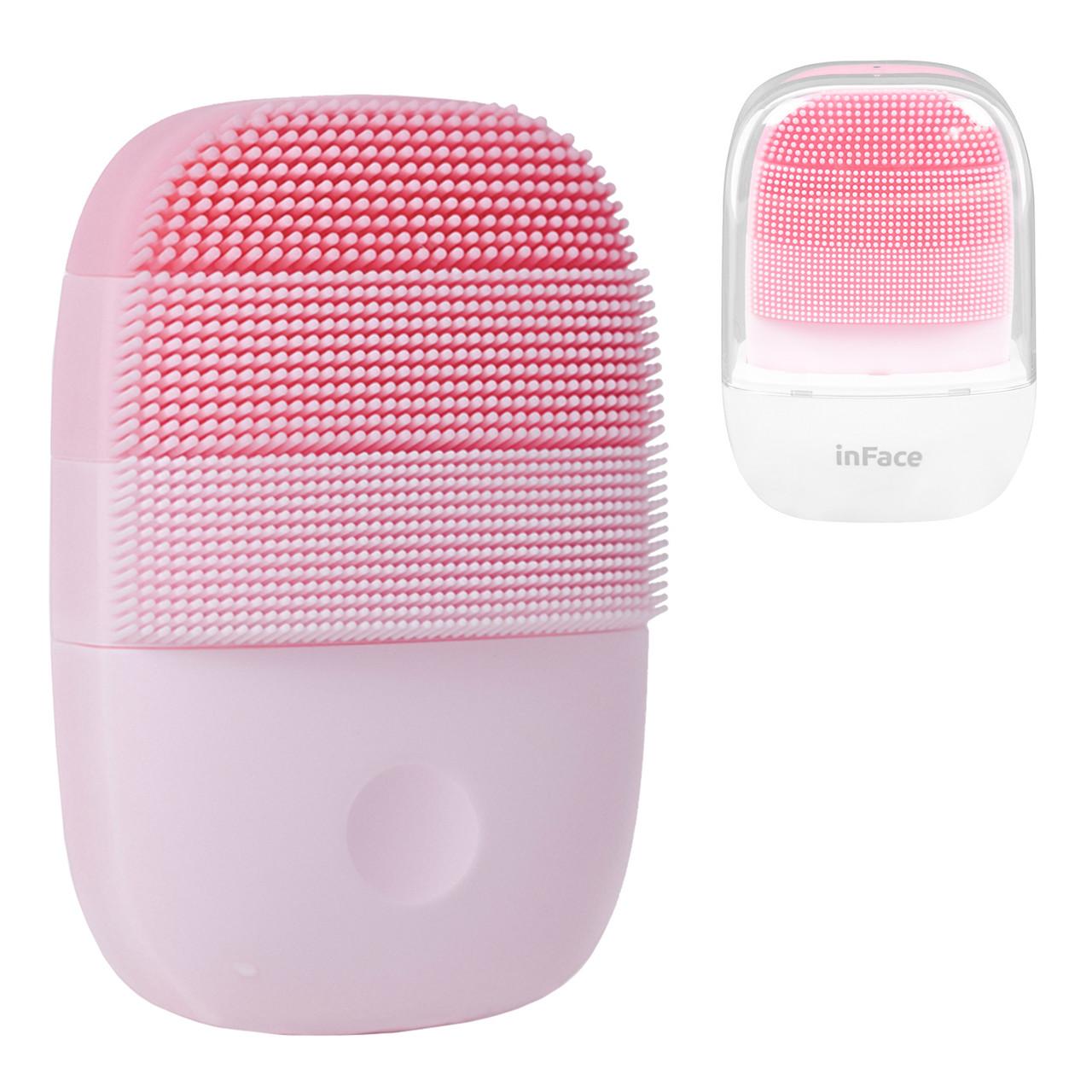 Массажер очиститель для лица Xiaomi Mijia Inface Sonic Beauty Facial Instrument MS2000, Pink
