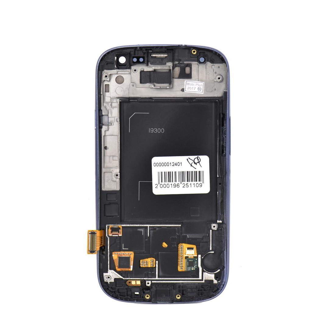 Дисплей Samsung Galaxy S3 i9300 в сборе Blue с рамкой (22)