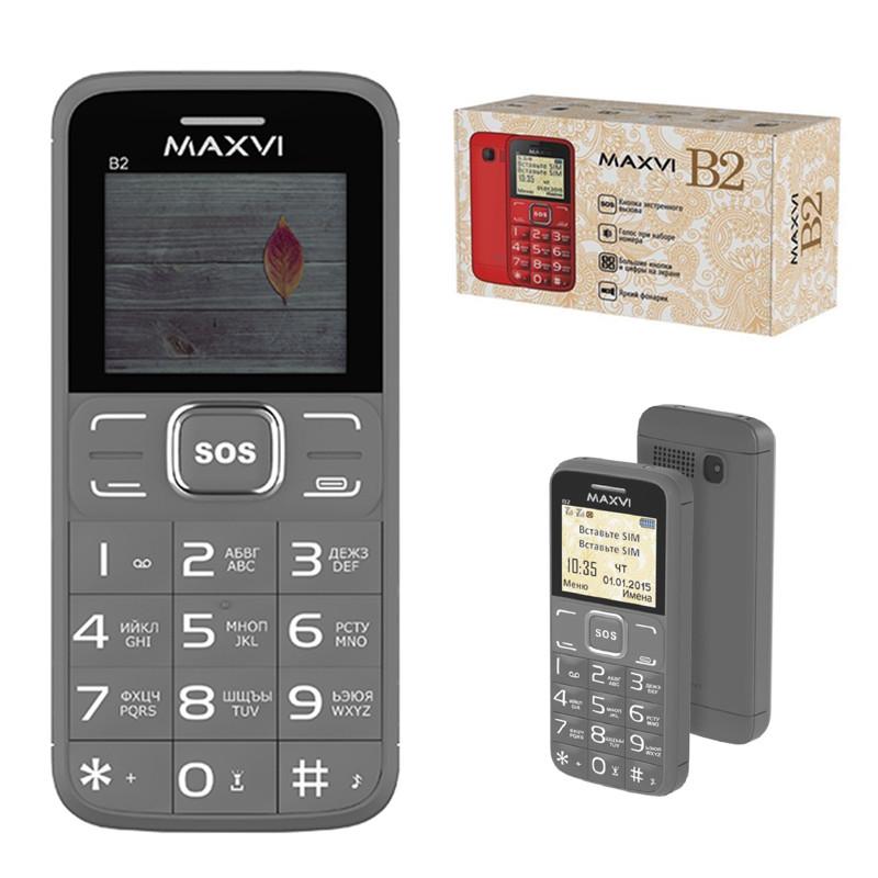 Мобильный телефон Maxvi B2, Grey