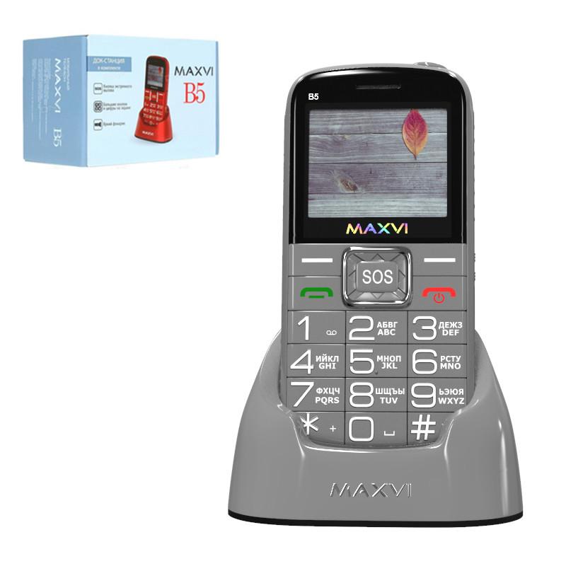 Мобильный телефон Maxvi B5, Grey