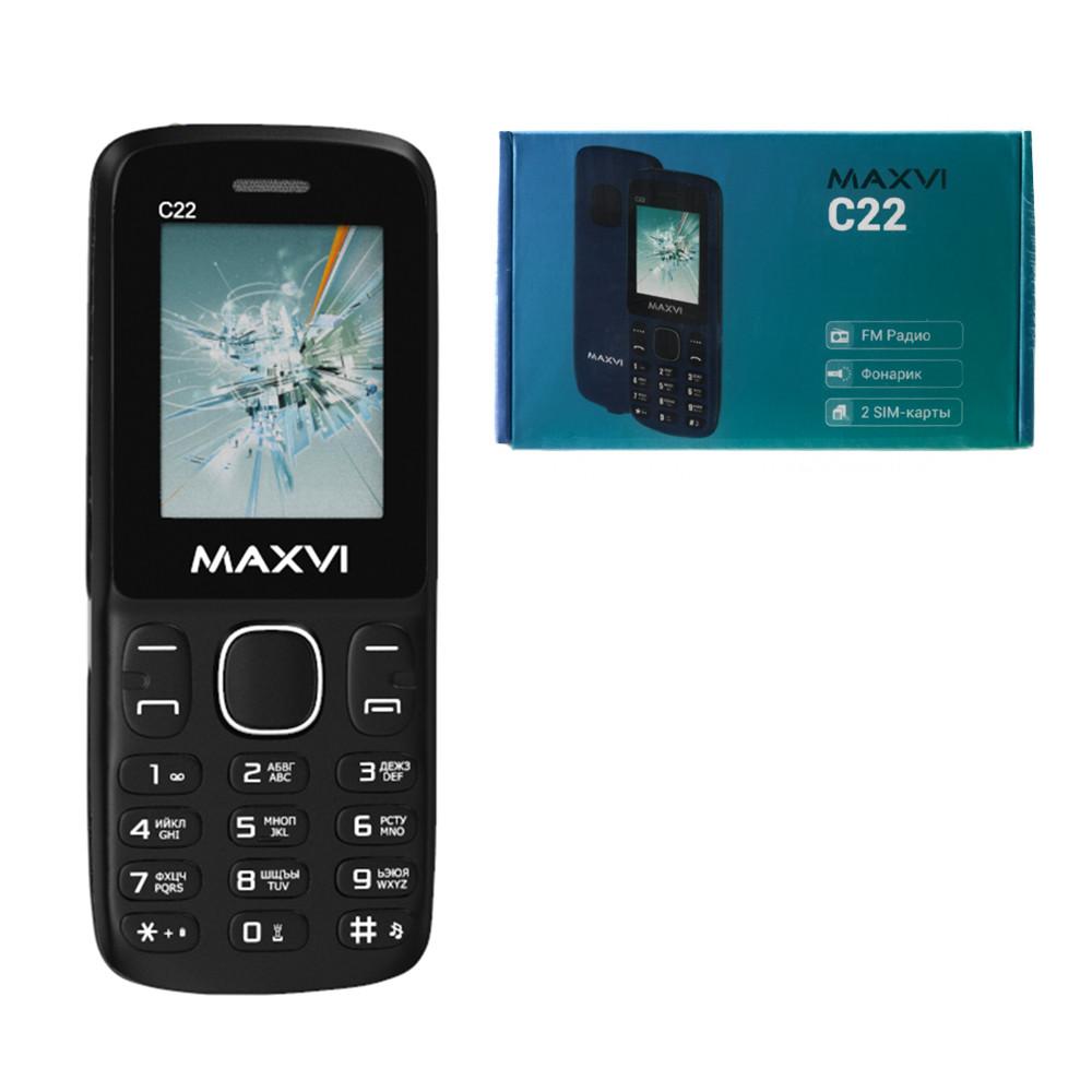 Мобильный телефон Maxvi C22, Black