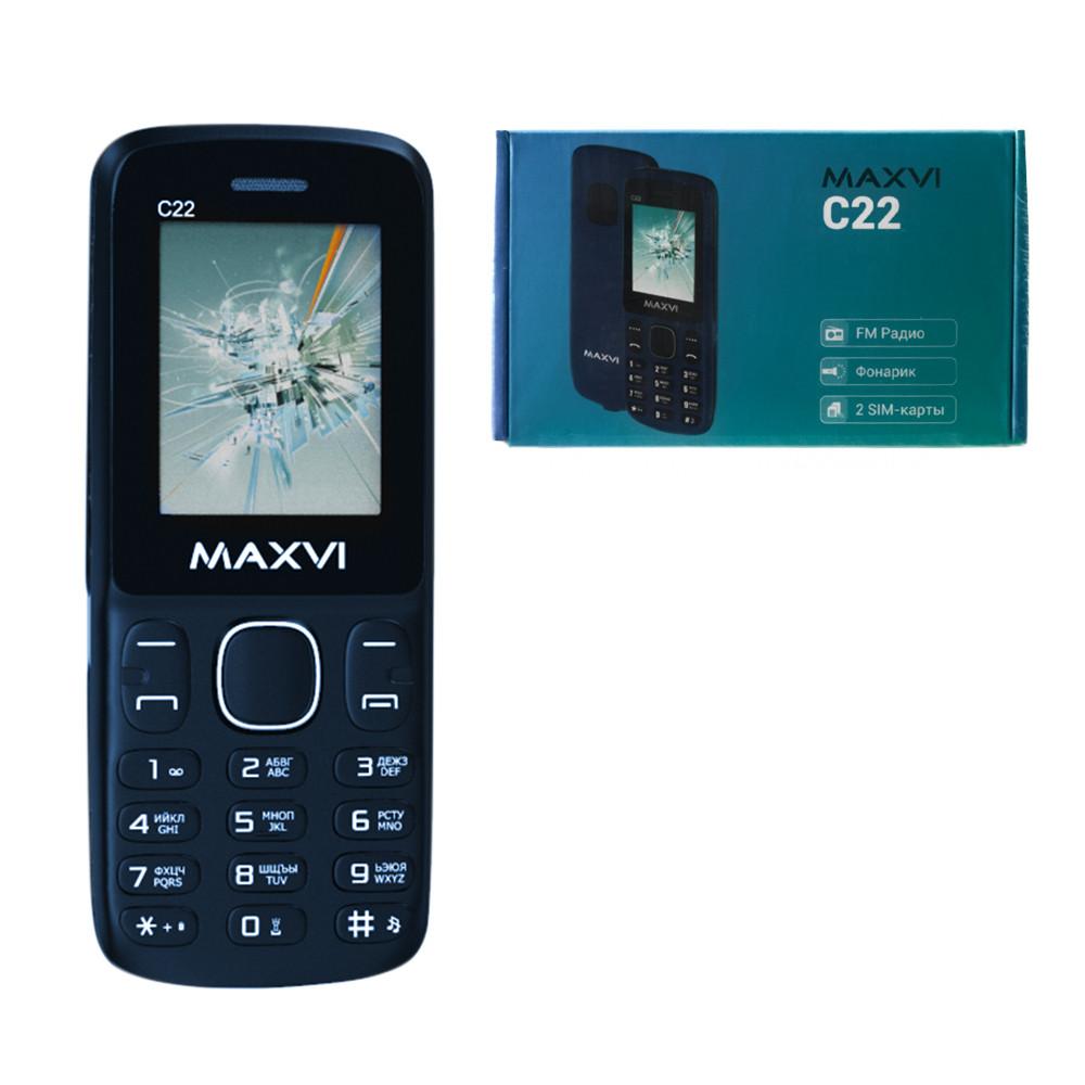 Мобильный телефон Maxvi C22, Marengo Black