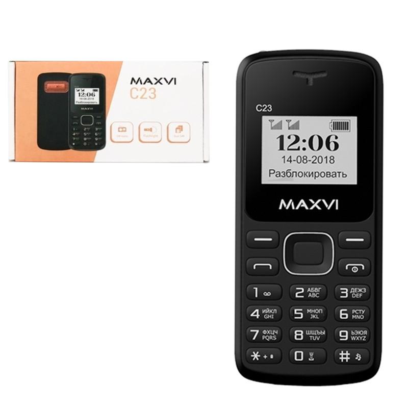 Мобильный телефон Maxvi C23, Black