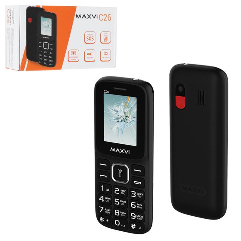 Мобильный телефон Maxvi C26, Black