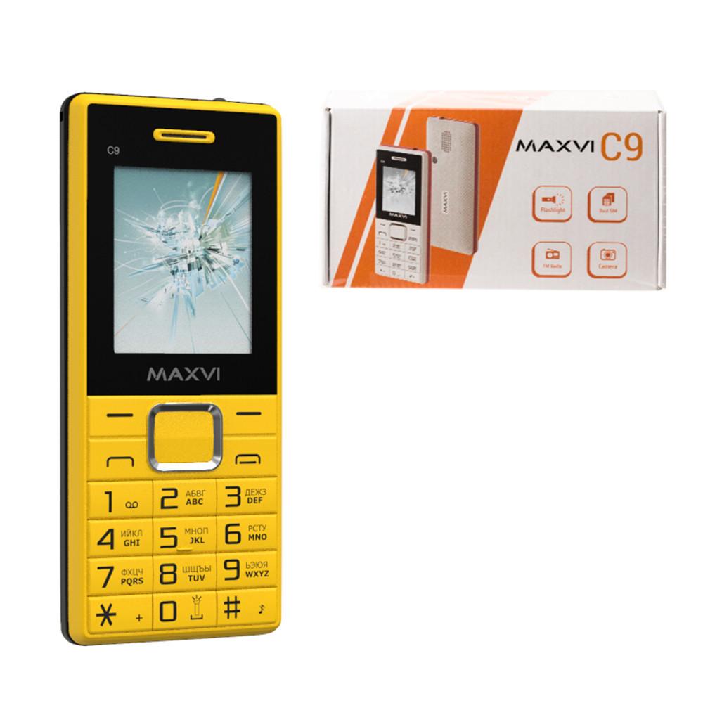 Мобильный телефон Maxvi C9, Yellow/Black