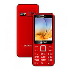 Мобильный телефон Maxvi K12, Red/Black