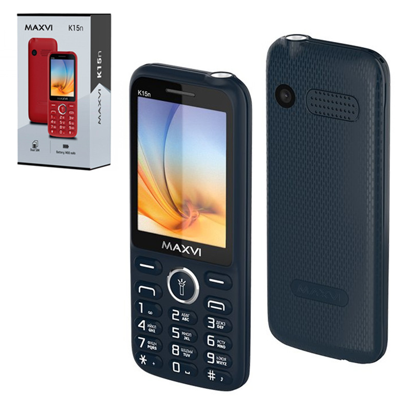 Мобильный телефон Maxvi K15n, Blue