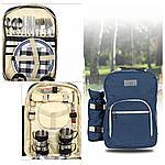 Набор для пикника на 4 персоны в рюкзаке, фото 2