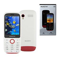 Мобильный телефон Maxvi K17, White/Red