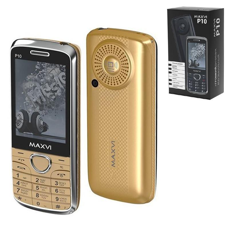 Мобильный телефон Maxvi P10, Gold
