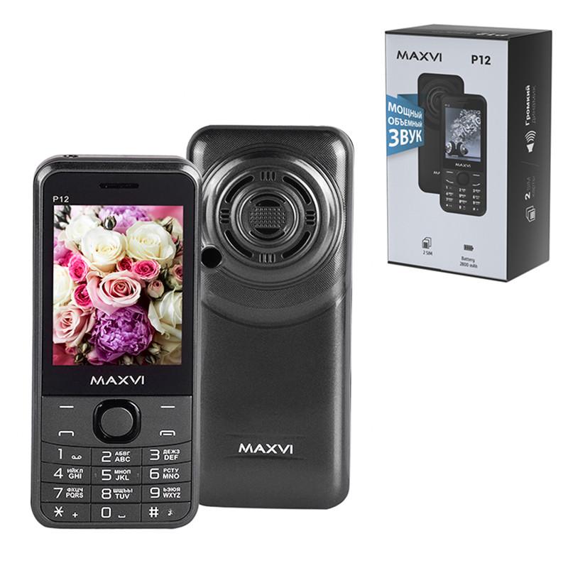 Мобильный телефон Maxvi P12, Grey