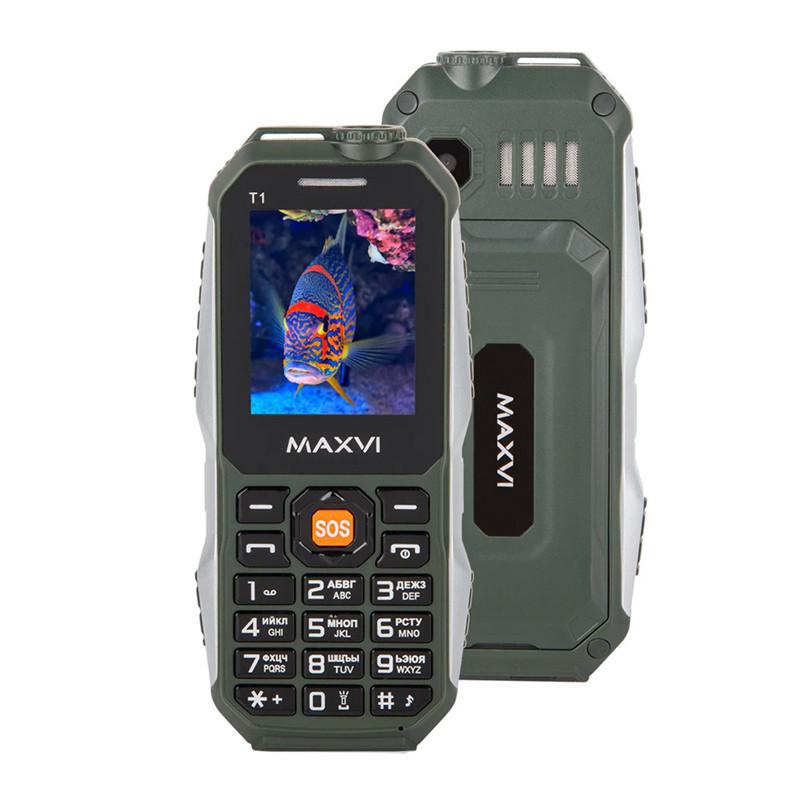 Мобильный телефон Maxvi T1, Green