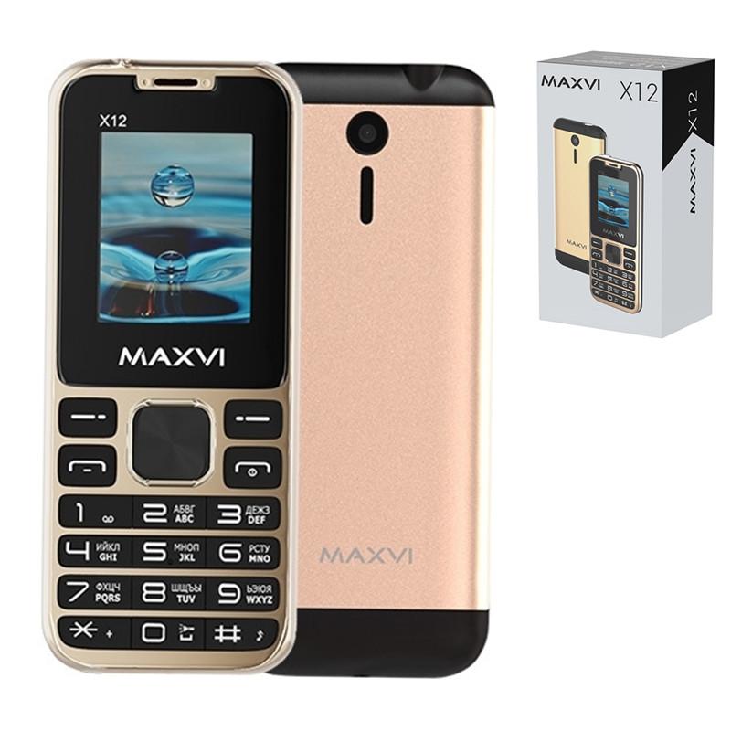Мобильный телефон Maxvi X12, Rose Gold