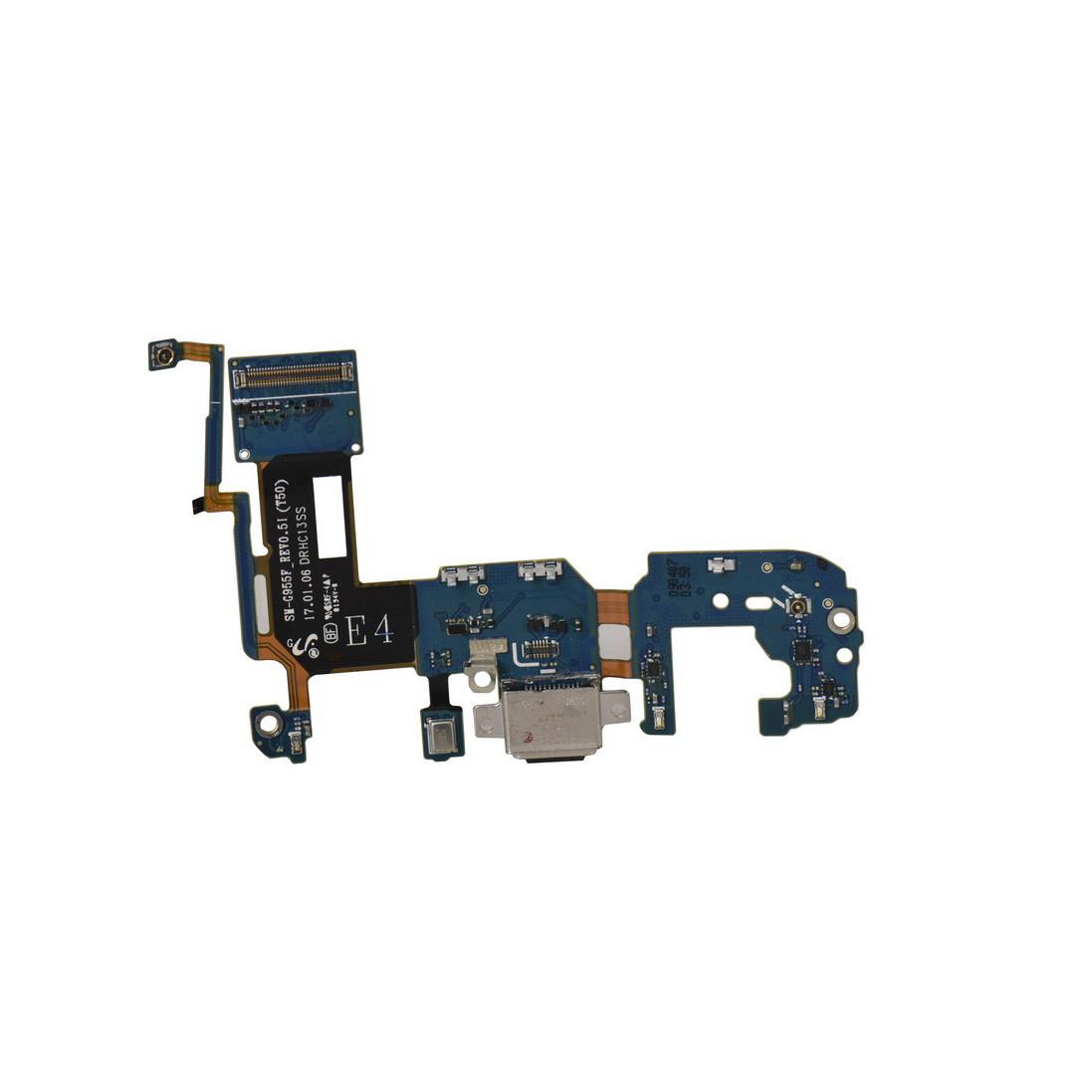 Шлейф Samsung Galaxy S8 Plus G955 с коннектором заряда и гарнитуры (53)