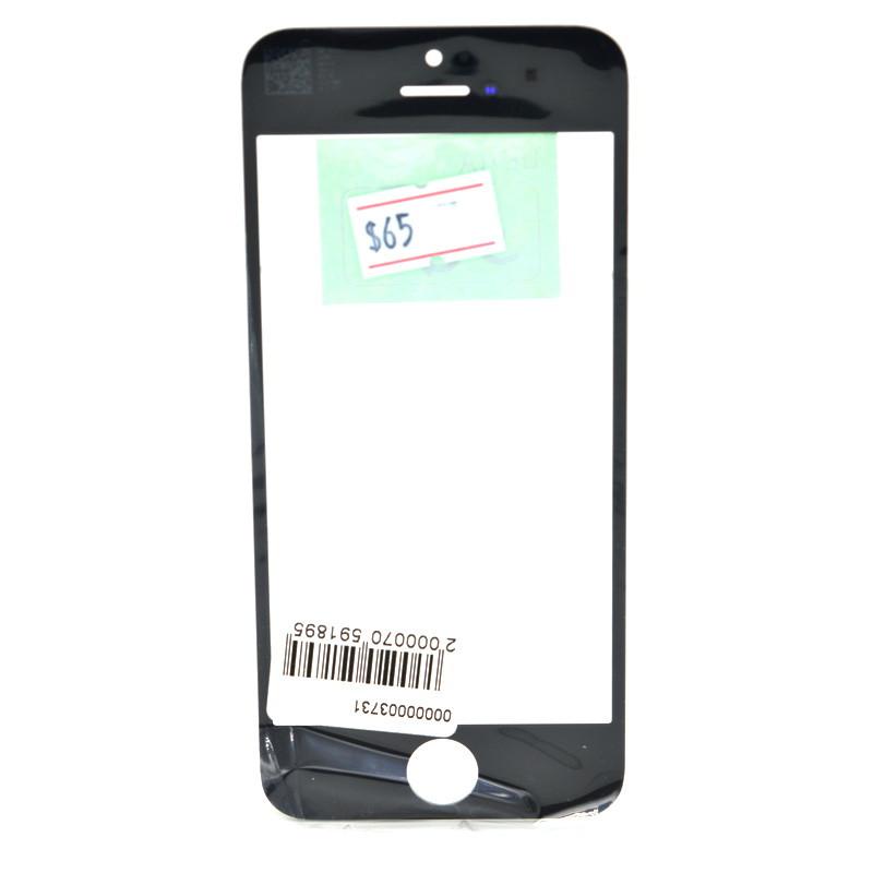 Стекло Apple iPhone 5/5S Black (58)