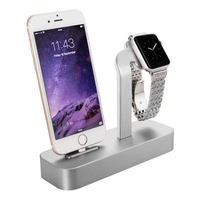 Док-станция Lightning с подставкой для часов Apple Watch COTEetCI Base 5 CS2095-TS 2.4A Silver