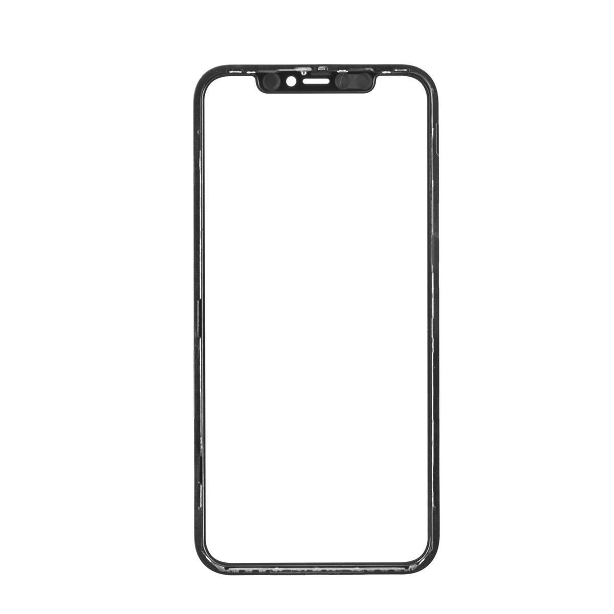 Стекло дисплей для iPhone 11 (6.1*) (3 в 1) с рамкой и OCA пленкой, Black