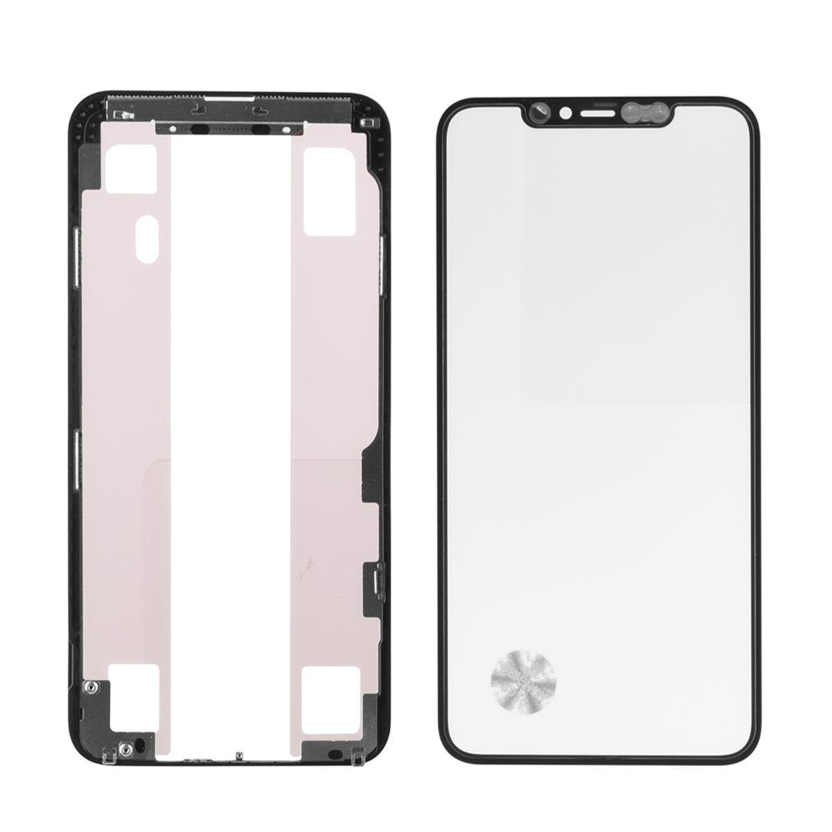 Стекло дисплей для iPhone 11 Pro Max (6.5*) (3 в 1) с рамкой и OCA пленкой, Black