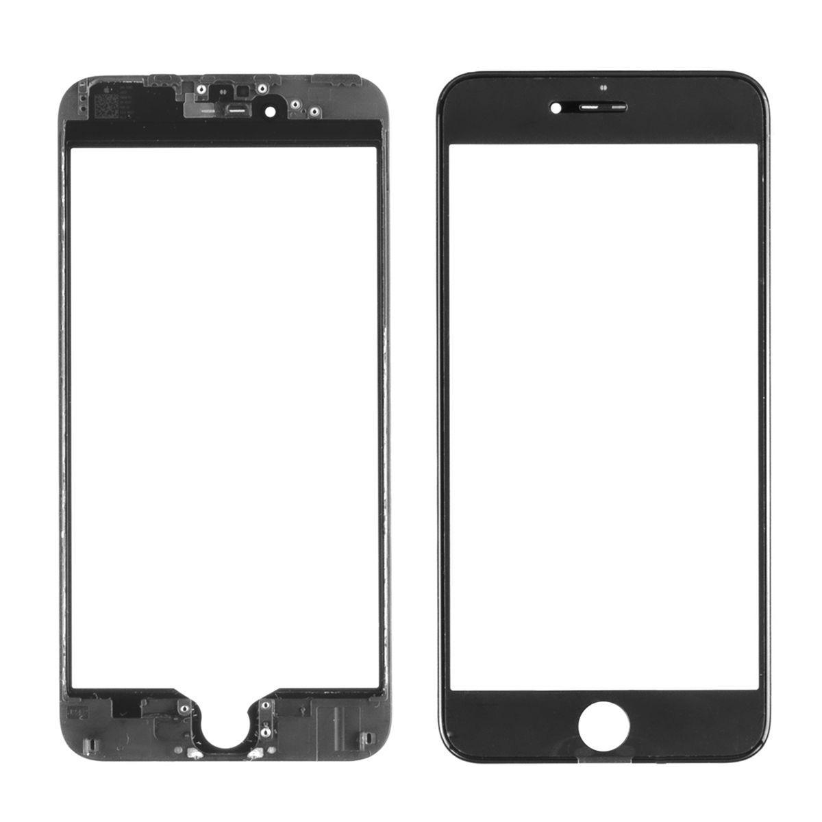 Стекло дисплей для iPhone 6G Plus (3 в 1) с рамкой и OCA пленкой, Black