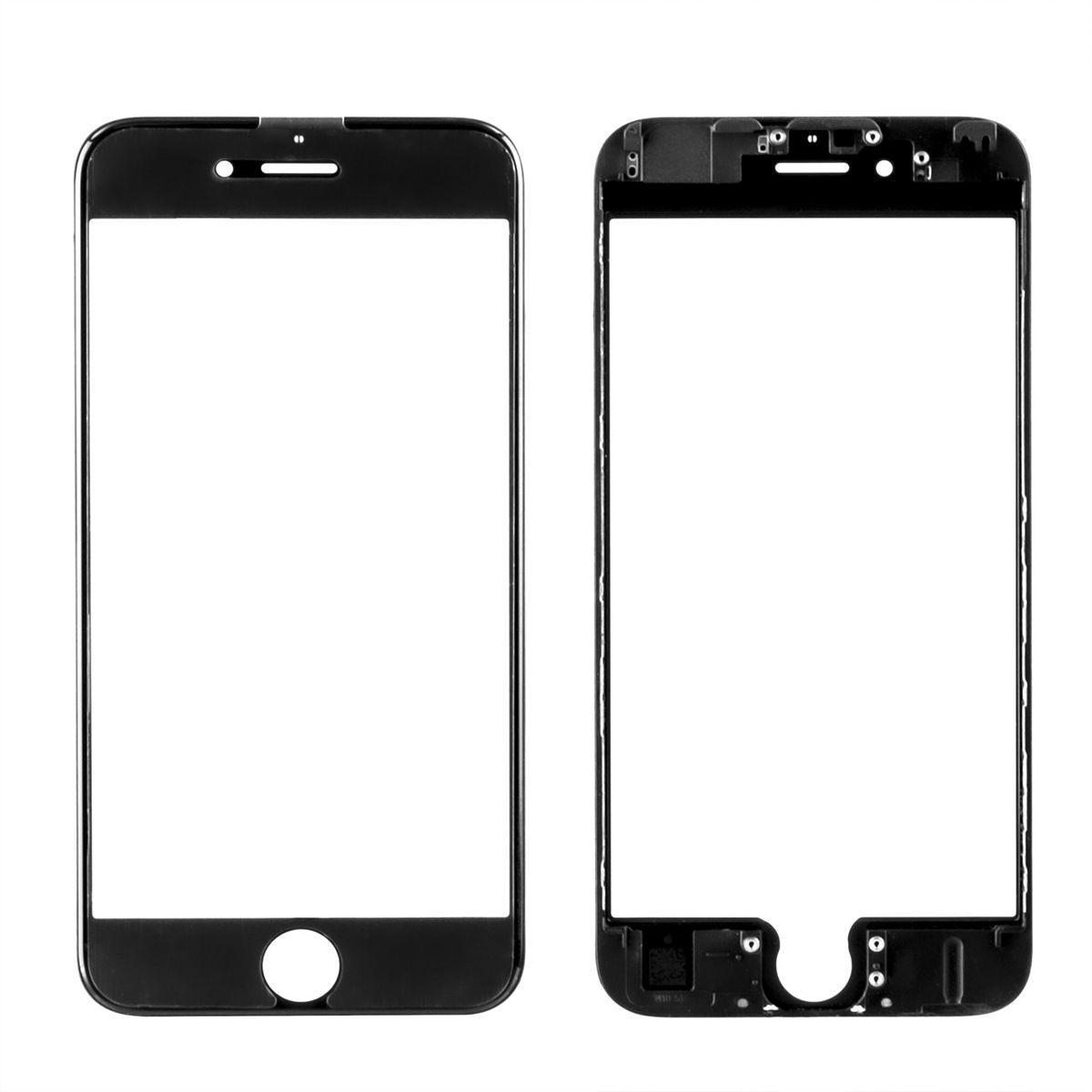 Стекло дисплей для iPhone 6S (3 в 1) с рамкой и OCA пленкой, Black