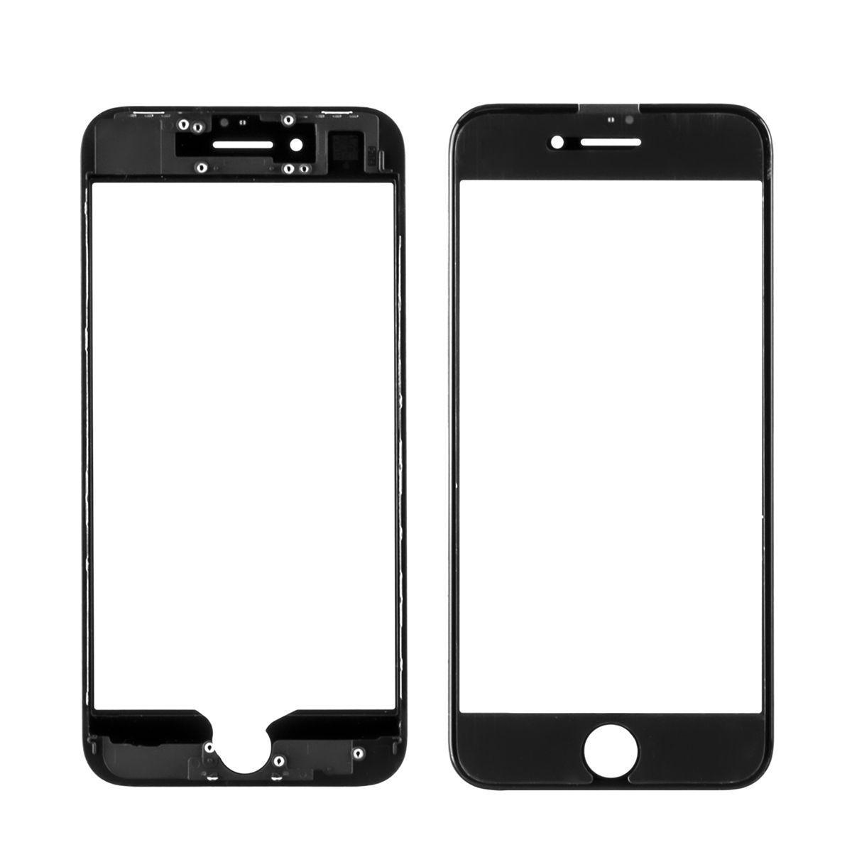 Стекло дисплей для iPhone 7G (3 в 1) с рамкой и OCA пленкой, Black
