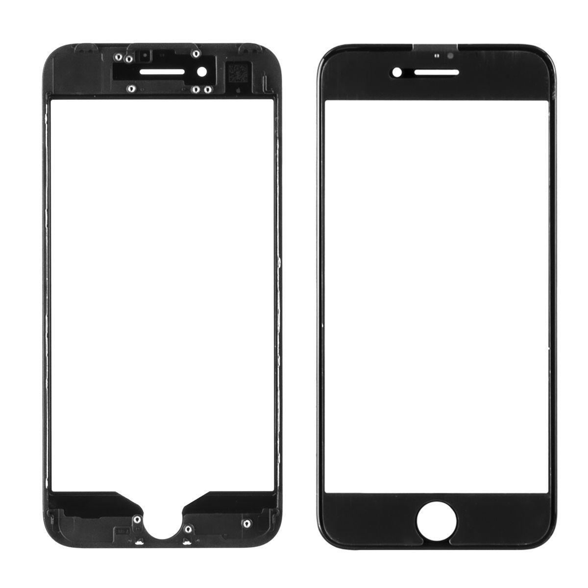 Стекло дисплей для iPhone 8G (3 в 1) с рамкой и OCA пленкой, Black