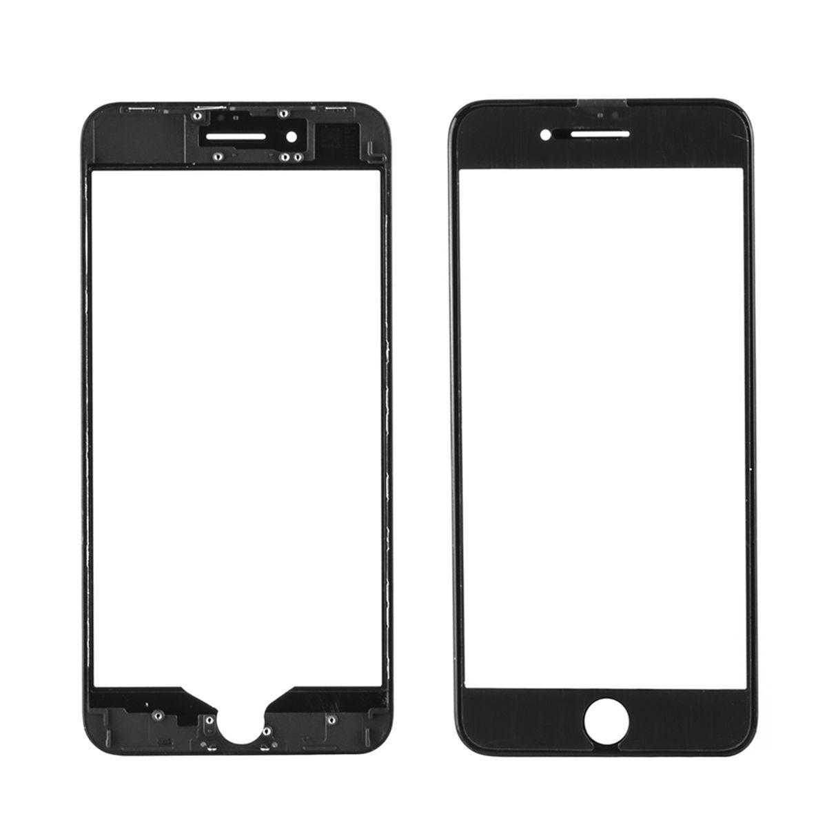 Стекло дисплей для iPhone 8G Plus (3 в 1) с рамкой и OCA пленкой, Black