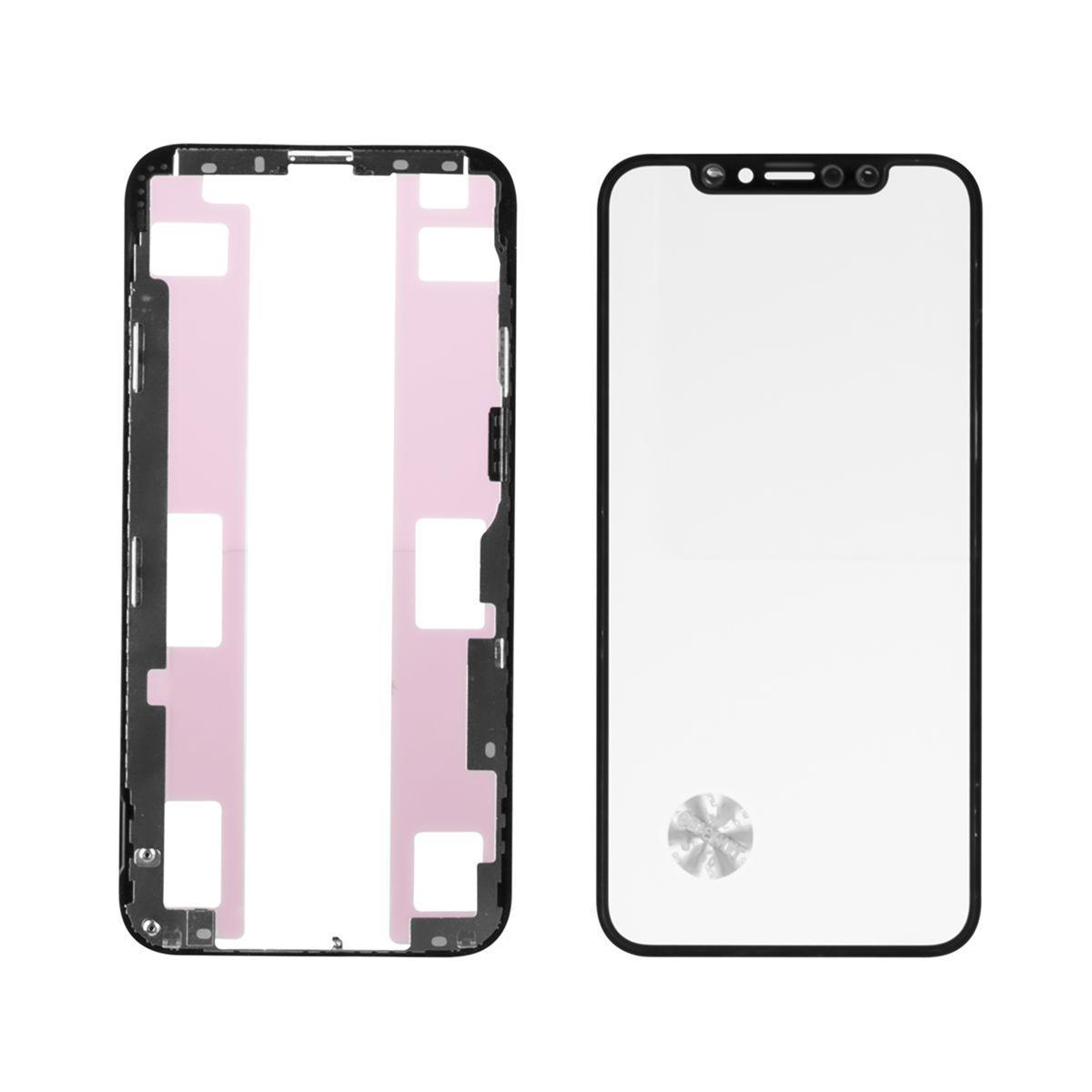 Стекло дисплей для iPhone XS (3 в 1) с рамкой и OCA пленкой, Black